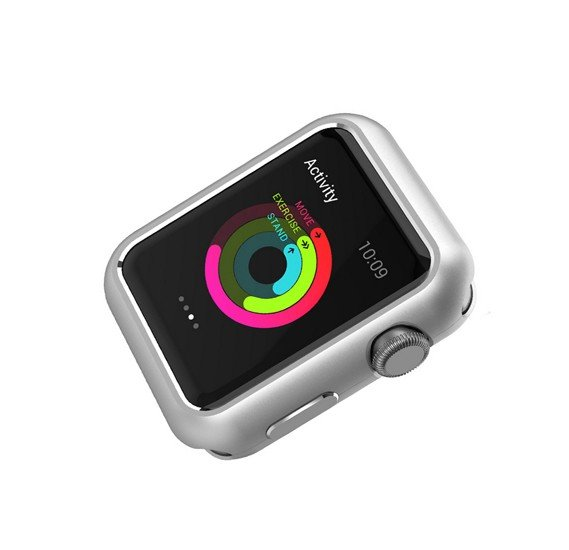 Promate Magnex-42 42mm Apple Watch Case , Silver