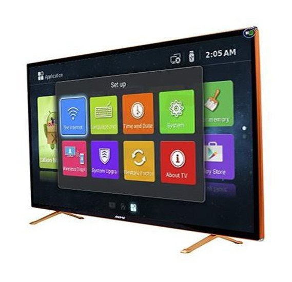 MEWE 55-Inch 4K Smart LED TV Tempered glass screen Metal Frame TA5500