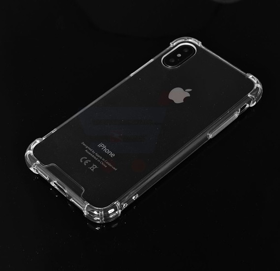 Soft Silicone TPU Hard Transparent Back Clear Case with  protective Reinforced Corners for iPhone X