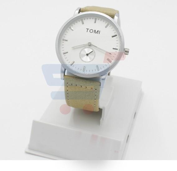 Tomi Analog Quartz Mens Watches TO73, White Sandal