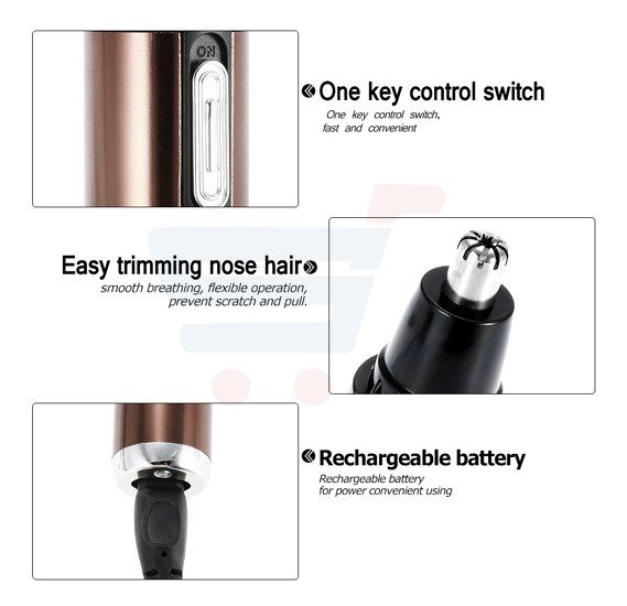 Olympia Rechargeable 2 In 1 Professional Nose Trimmer & Shaver, OE-143