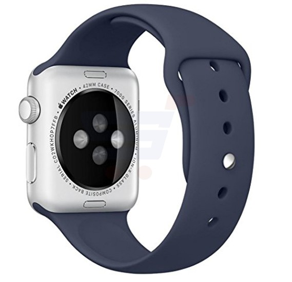 Silicone Sport Replacement Watch Band For Apple Watch 42MM Dark Blue