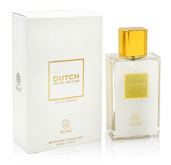 Ruky Dutch White Unisex 80ml+ Ruky Oud Al Aqsa Eau De Perfume 30ml