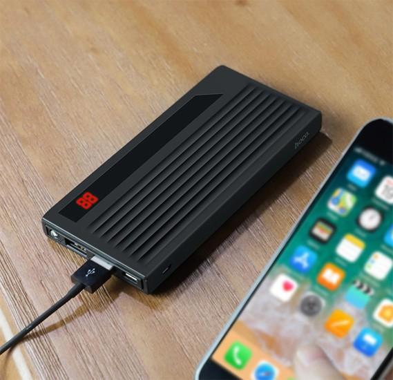 Hoco Power treasure mobile power bank 10000mAh - Black,  J27