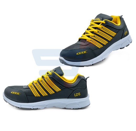 Aqualite J-121 Sports Wear Shoes For Men Size UK-8 Black/Yellow