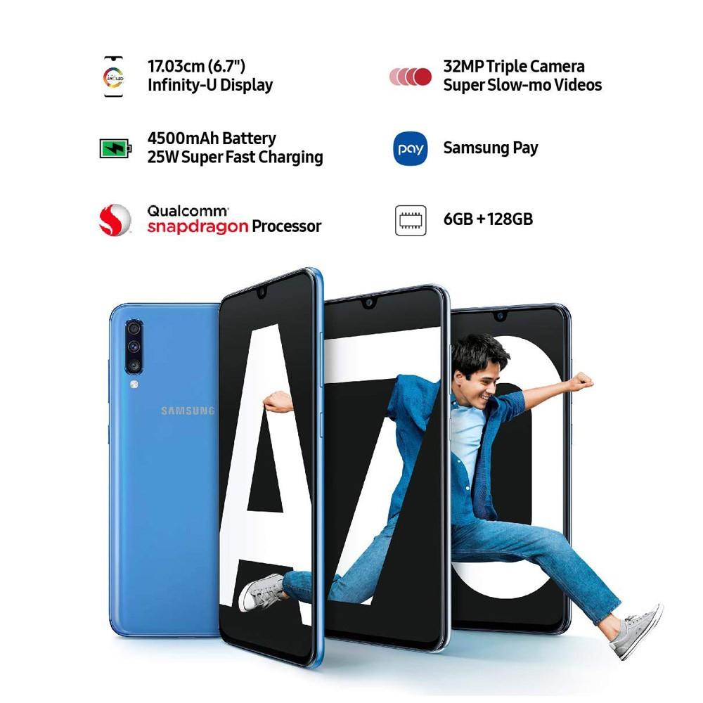 Samsung Galaxy A70 Dual Sim 6GB RAM 128GB  Storage 4G LTE White