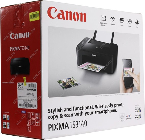 Canon Pixma TS3140 All-in-One WiFi Color Printer, Black