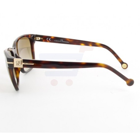 Carolina Herrera Oval Brown Havana Frame & Brown Mirrored Sunglasses For Women - SHE606-04AP