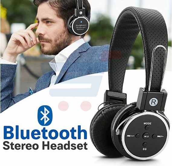 Wireless Bluetooth B05 Stereo Headset With Mic, Support Micro SD & FM Radio