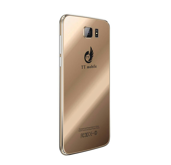 TT S7 Pro Smartphone, 4G, 5.5 LCD Display, 2GB RAM, 8GB Storage, Android 5.1, Dual Camera, Dual SIM with Leather Cover(GOLD)