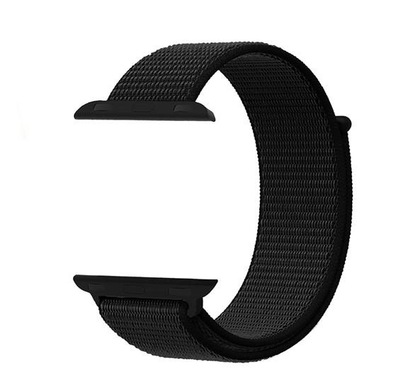 Promate Sports Loop Premium Nylon Band for Apple Watch 38mm/40mm, FIBRO-38, BLACK