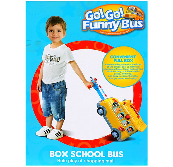 Box School Funny  Bus 27 Pieces, W038