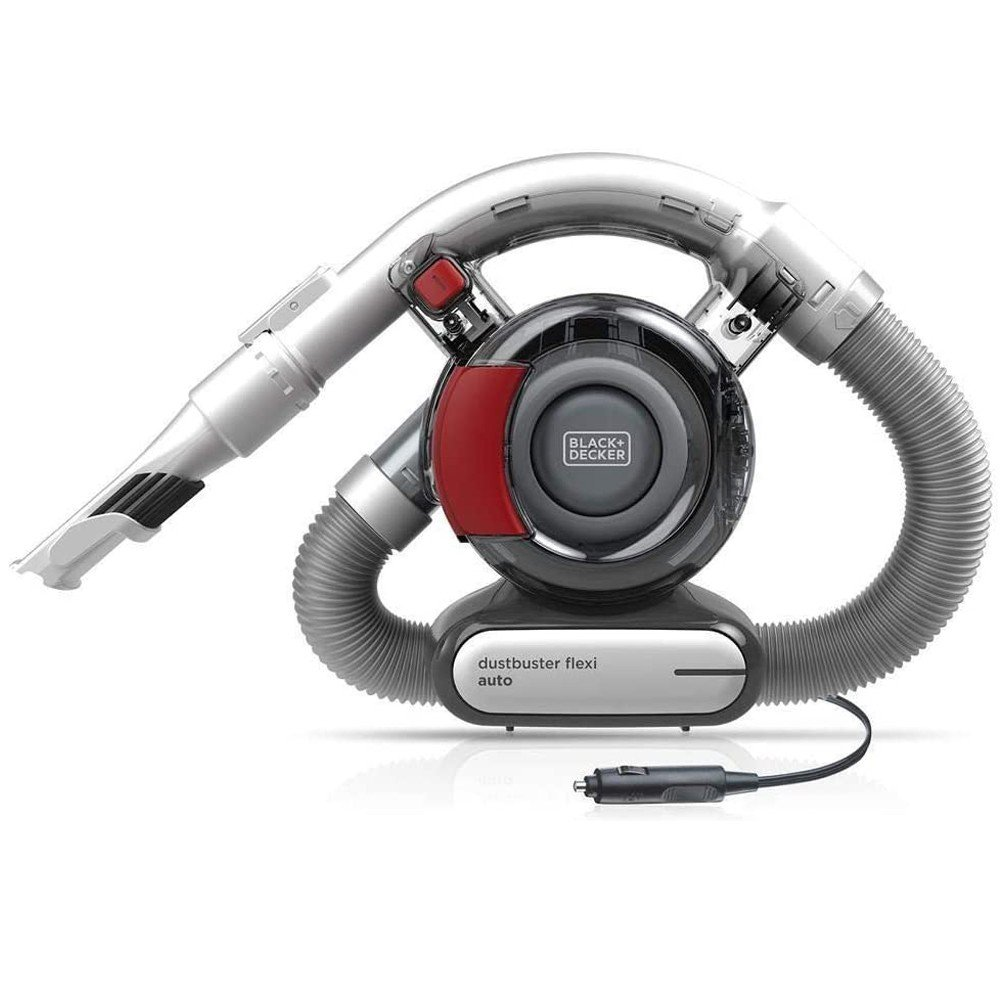 Black and Decker PD1200AV-XJ 12 V Flexi Auto Dustbuster, Grey And Red