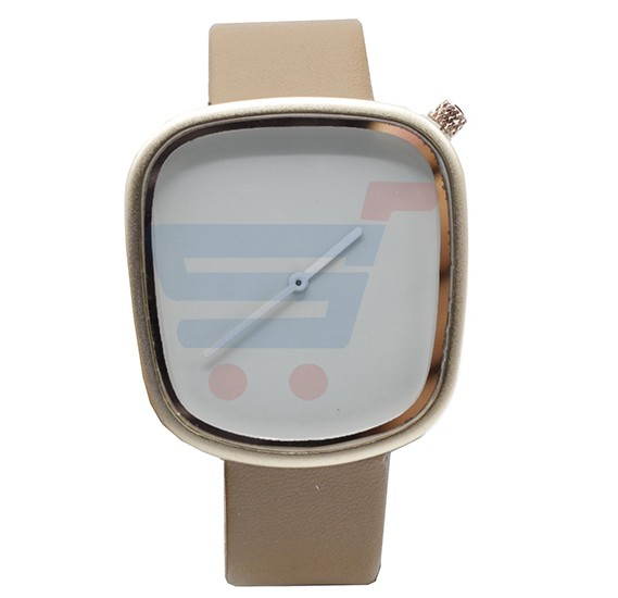 TOMI Unisex Leather Band Wrist Watch T077, White Brown