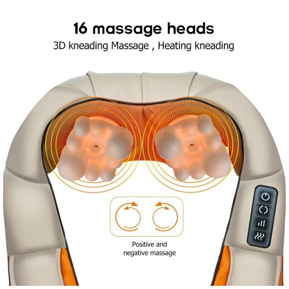Massager Neck Kneading Shiatsu Back Shoulder Massager Pain Relief