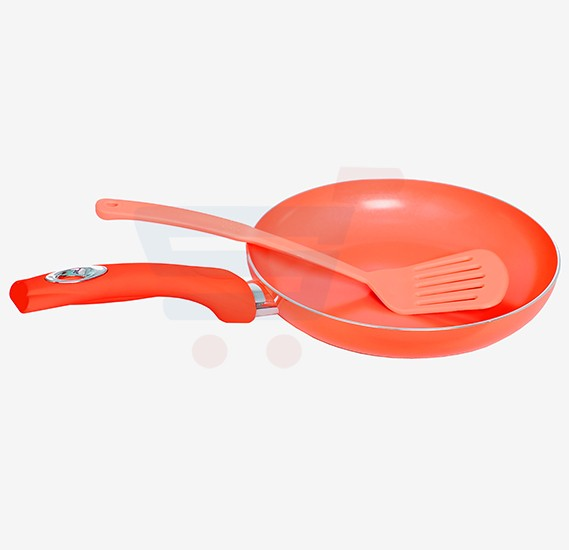 Flamingo Colorful Ceramic Coating Fry Pan, FL6828FP 24cm