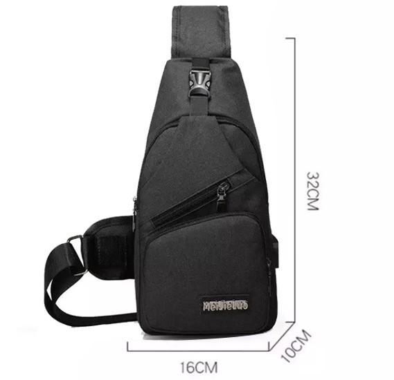 Korean Shoulder Small Backpack Men Messenger Bag 541, Assorted Color