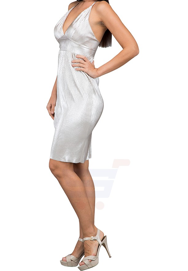 WAL G Italy Cross Party Dress Silver - WG 61131 - XL
