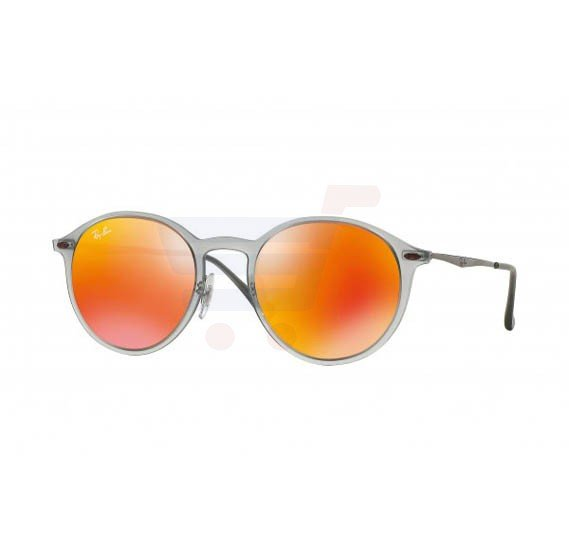Ray-Ban Round Clear Frame & Red Mirrored Sunglasses For Unisex - RB4224-650-6Q-49-20