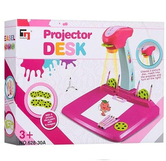 Portable Learning Projector Desk For Kids - Multi Color