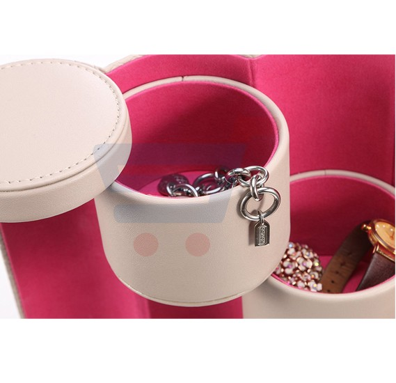 Small Portable Travel Jewellery Box Organiser
