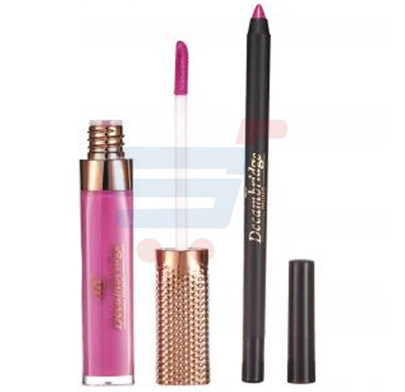 Decambridge Dark Pink Matte Liquid Lipstick and Lip Liner, LP25