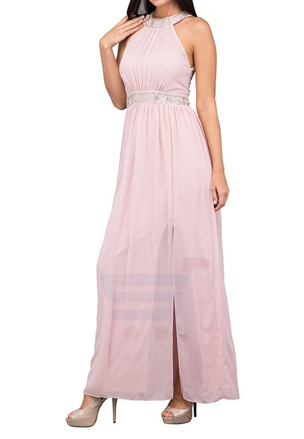 TFNC London Aileen Maxi Evening Dress Pink - CTT 6335 - XXL