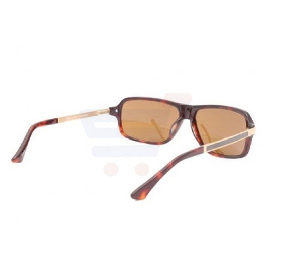 Aigner Rectangular Havana Frame & Brown Mirrored Sunglasses For Unisex - AI-SM-02B-COL2