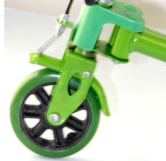 Frog sewing scooter with handbrake with ring bell 2152-Green
