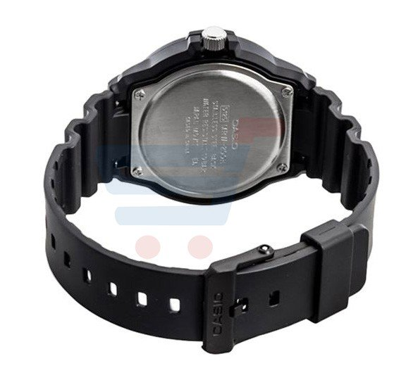 Casio Analog Sports Watch For Men, Black Dial With Black Resin-MRW-200H-1B2