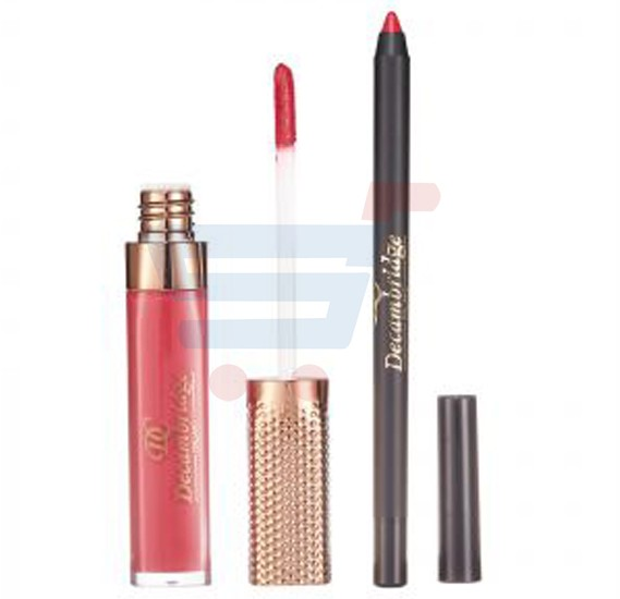 Decambridge Reddish Pink Matte Liquid Lipstick and Lip Liner, LP06