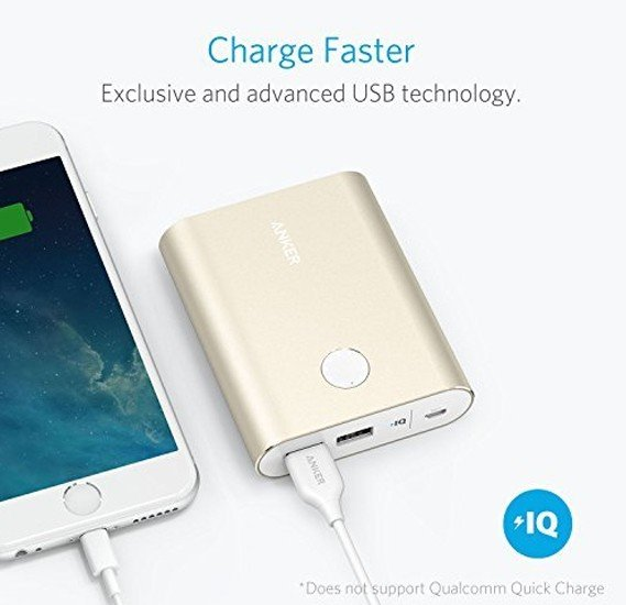 Anker Powercore+ 13400mah Portable Charger With Quick Charge 3.0, Gold