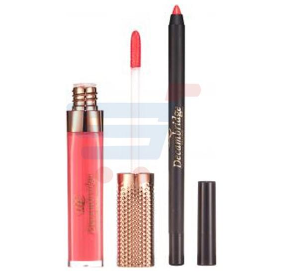 Decambridge Reddish Matte Liquid Lipstick and Lip Liner, LP27