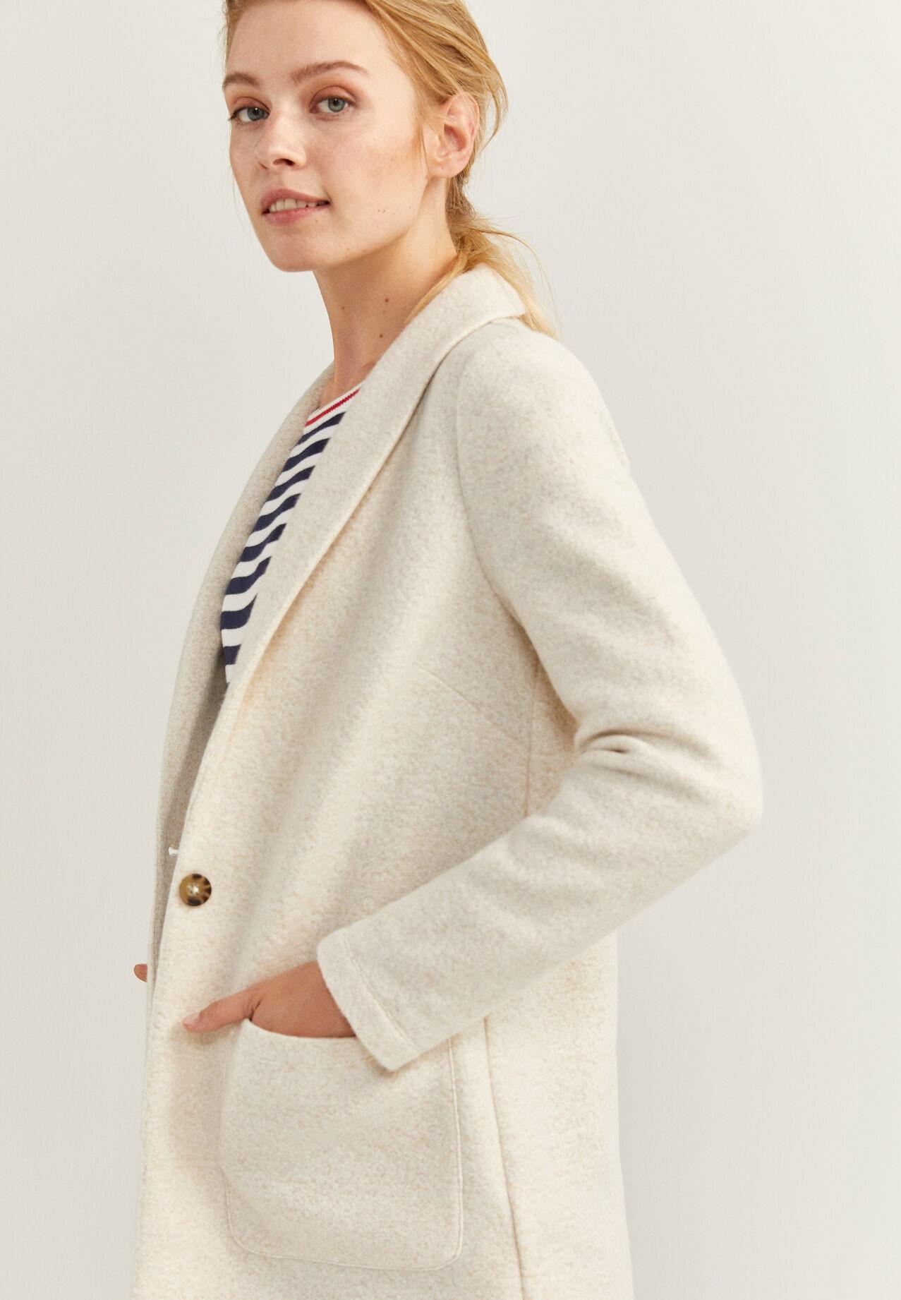 Springfield Blazer For Women Ivory, Size M