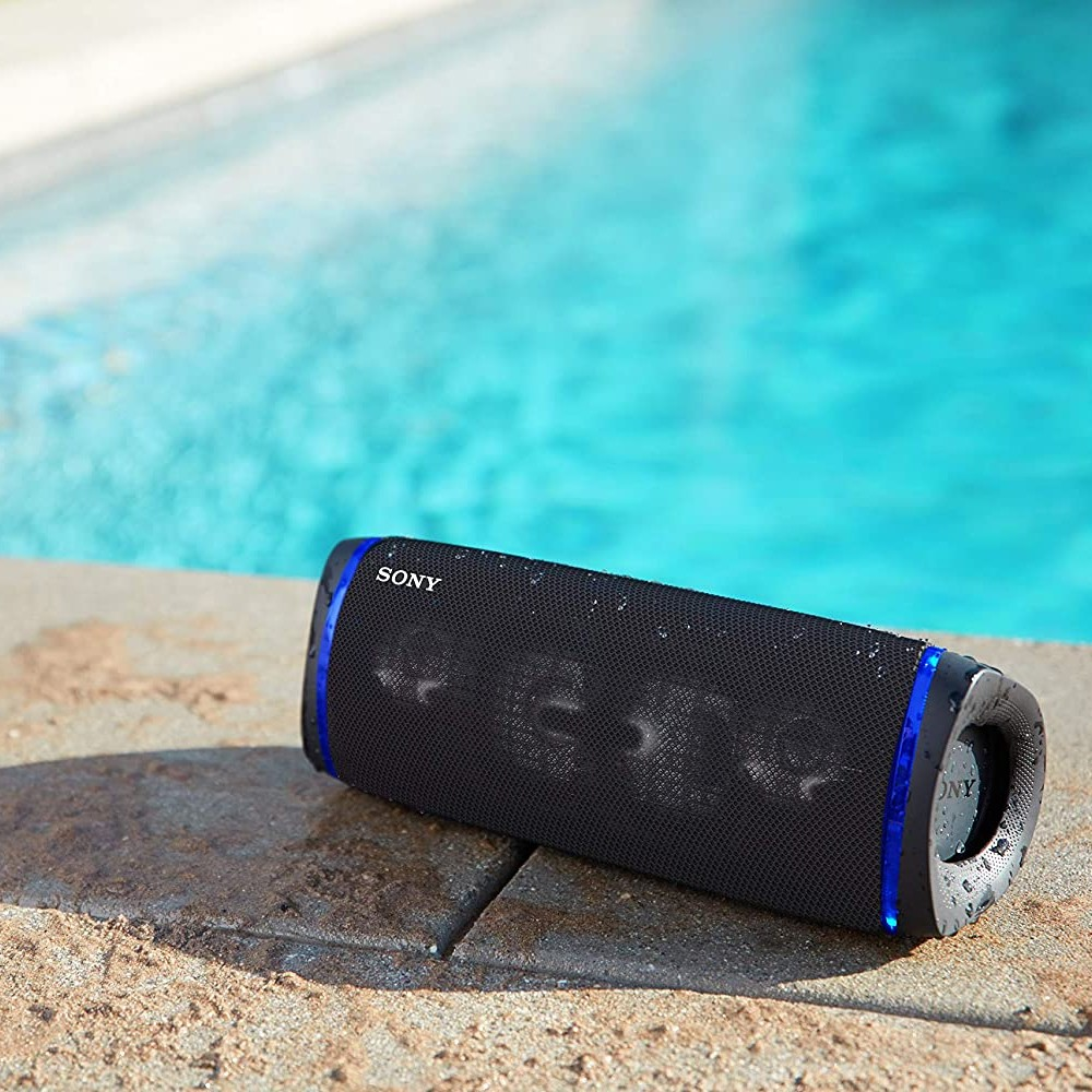 Sony SRS-XB43 Extra Bass Wireless Bluetooth Speaker with 24 Hours Battery Life Party Lights, Black