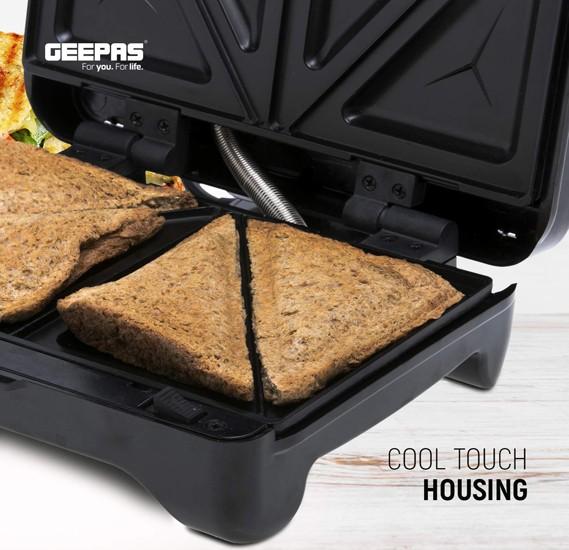 Geepas GSM36509UK 3-in-1 Sandwich Toaster