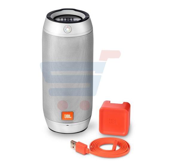 JBL Splashproof Bluetooth Speaker with Light Show Pulse 2 Silver