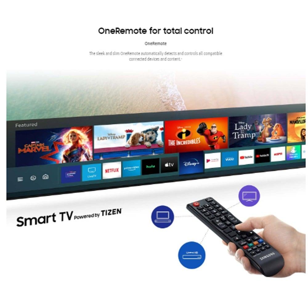 Samsung 75 Inch 4K UHD Smart LED TV UA75TU8000 Black