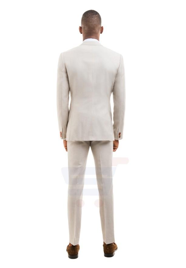 D & D Khaki Linen Blend Suit Hero - 55005 - M - 36