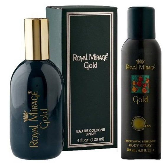 Royal Mirage Gold 2 in 1 Gift Set, 120 ml Spray Plus 150 ml Body Spray