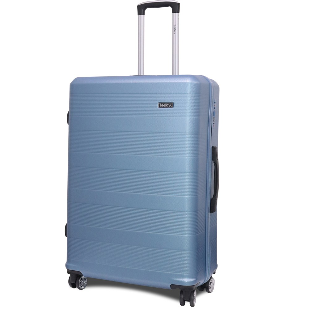 Traveller ABS 4 Wheel Premium Luggage Trolley 3pcs Set, Blue, TR-3300