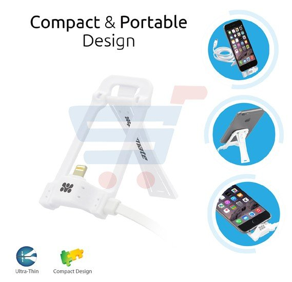 Promate Charge and Sync Dock Stand for iPhone 7 5 5S 6 6S iPhone Plus 6 6S and iPod, POSE-LT.WHITE