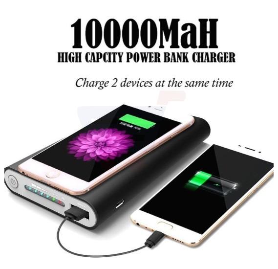 Qi Certified 10000mAh 3 in 1 Wireless Power Bank