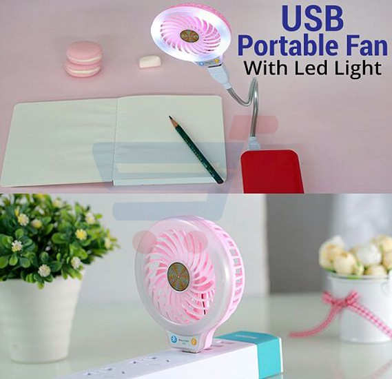 Zooni Universal Multi-Color USB Portable Fan with LED Light - Z-00N