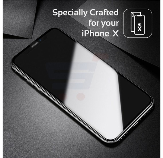 Promate iPhone X Glass Screen Protector, Ultra-Slim 3D Curved Edge-To-Edge HD Tempered Glass Screen Protector with Applicator Tool Frame and 9H Hardness for Apple iPhone X, iPhone 10, MaxShield-X