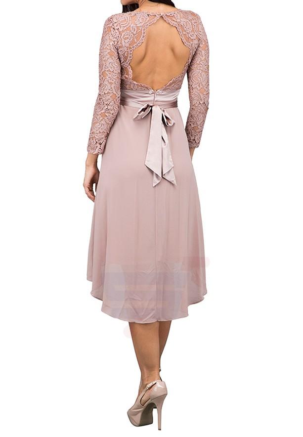 TFNC London Elly Midi  Formal Dress Taupe - CTT 46475 - XXL