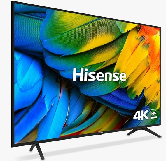 Hisense 50 Inch 4K Ultra HD Smart LED TV, 50A7120, Black