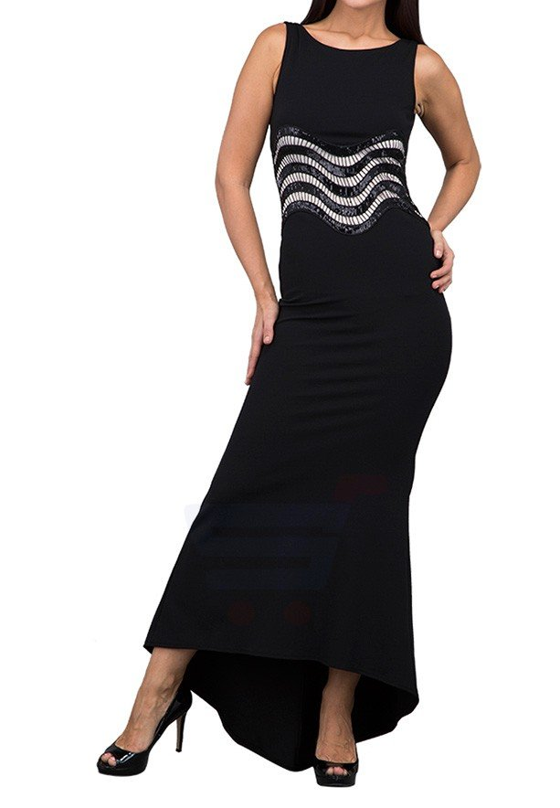 TFNC London Nitsa Maxi Party Dress Black - CTT 39870 - L