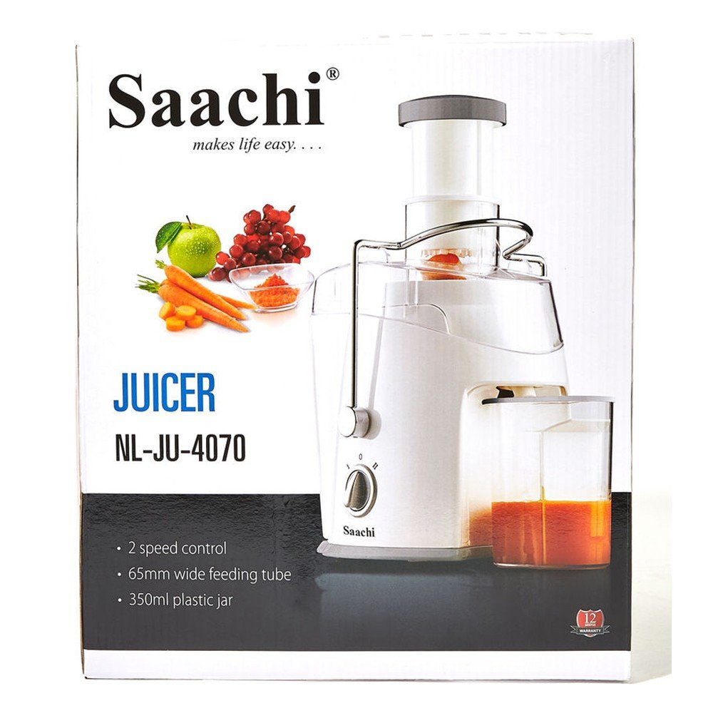 Saachi Juicer With 2 Speed Control, NL-JU-4070-WH