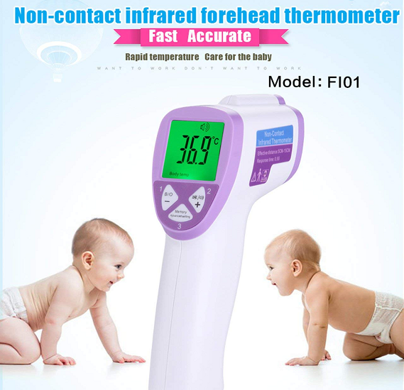 10 in 1 Non Contact Infrared LCD Digital Forehead Thermometer F101